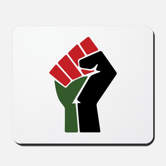 Black Red Green Fist Mousepad