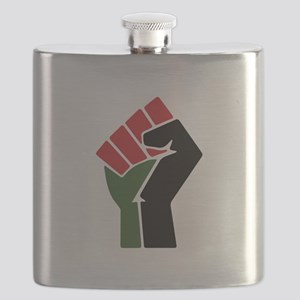 Black Red Green Fist Flask