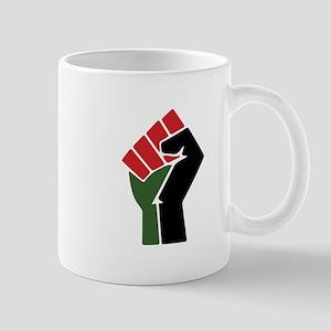 Black Red Green Fist Mugs