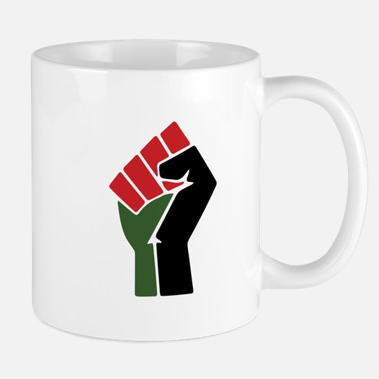 Black Red Green Fist Mugs