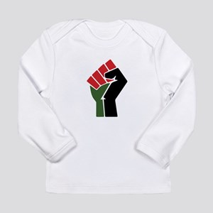 Black Red Green Fist Long Sleeve T-Shirt