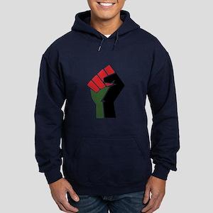 Black Red Green Fist Hoodie