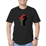 Red black green Fitted Dark T-Shirts