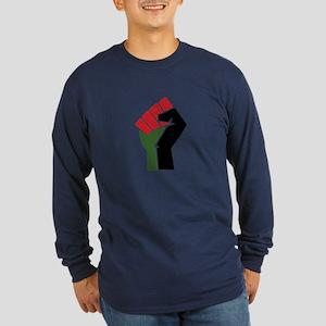 Black Red Green Fist Long Sleeve T-Shirt