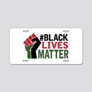 #Black Lives Matter Aluminum License Plate