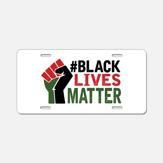 #Black Lives Matter Aluminum License Plate