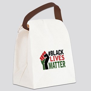 #Black Lives Matter Canvas Lunch Bag