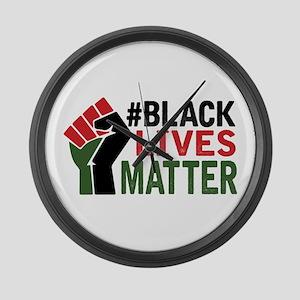 #Black Lives Matter Large Wall Clock