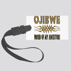 Ojibwe Ancestors Large Luggage Tag