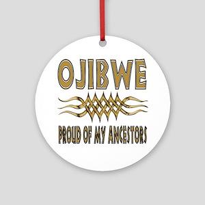Ojibwe Ancestors Round Ornament