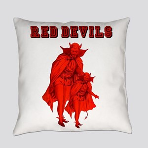 Red Devils Everyday Pillow
