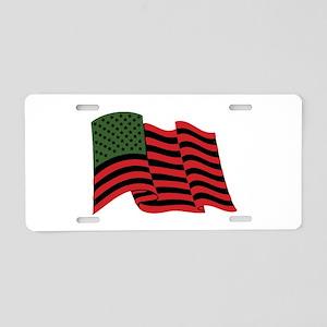 African American Flag Aluminum License Plate