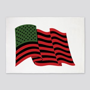 African American Flag 5'x7'Area Rug