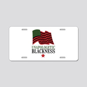Unapologetic Blackness Aluminum License Plate