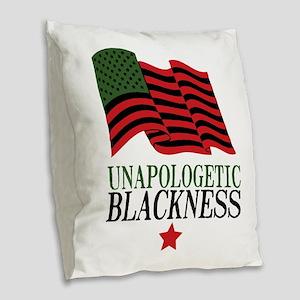 Unapologetic Blackness Burlap Throw Pillow
