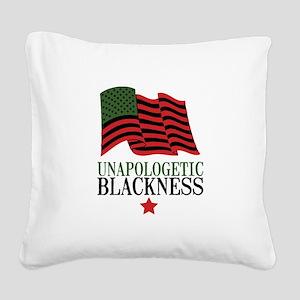 Unapologetic Blackness Square Canvas Pillow