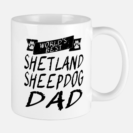Worlds Best Shetland Sheepdog Dad Mugs