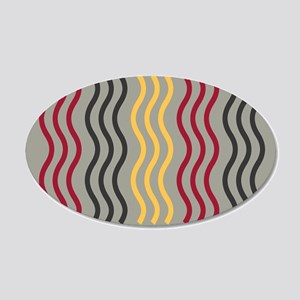 Cool Wave Pattern 20x12 Oval Wall Decal