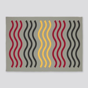 Cool Wave Pattern 5'x7'Area Rug