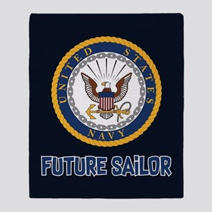 U.S. Navy Future Sailor Throw Blanket