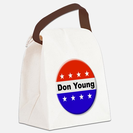 Vote Don Young Canvas Lunch Bag