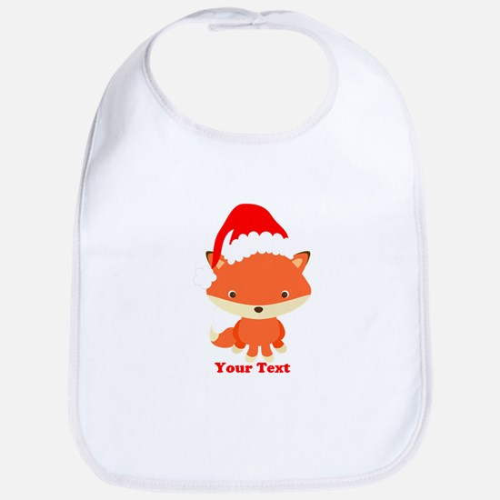 Christmas Santa Fox Cotton Baby Bib