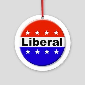 Liberal Round Ornament