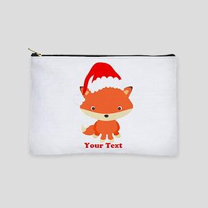 Christmas Santa Fox Makeup Bag