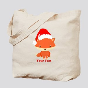 Christmas Santa Fox Tote Bag