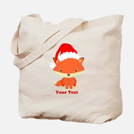 Christmas Santa Fox Tote Bag