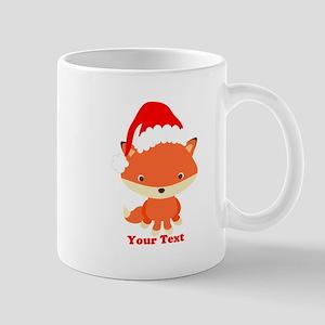 Christmas Santa Fox 11 oz Ceramic Mug