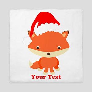 Christmas Santa Fox Queen Duvet