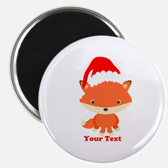 "Christmas Santa Fox 2.25"" Magnet (10 pack)"
