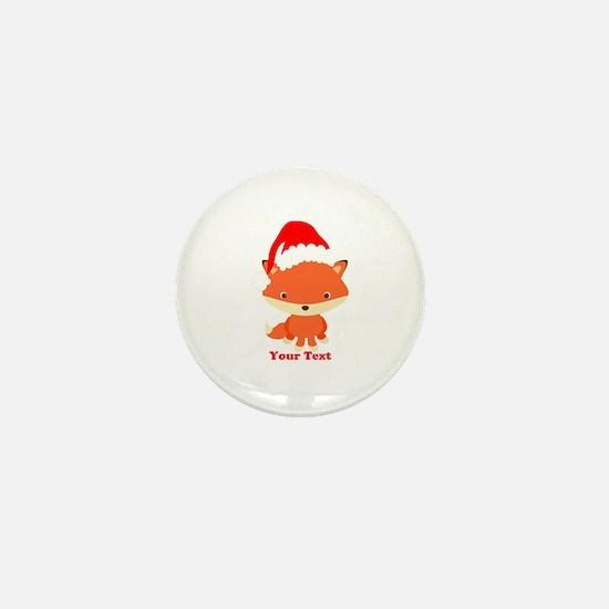 Christmas Santa Fox Mini Button (10 pack)
