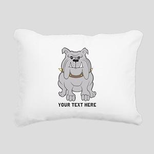 Bulldog personalized Rectangular Canvas Pillow