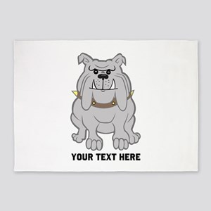 Bulldog personalized 5'x7'Area Rug