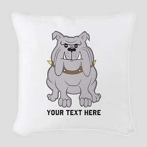 Bulldog personalized Woven Throw Pillow