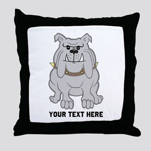 Bulldog personalized Throw Pillow