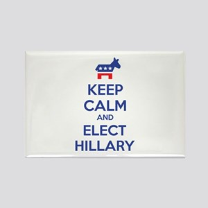 Keep calm and elect Hillary Rectangle Magnet