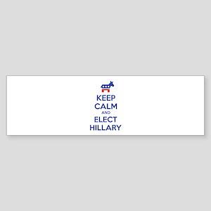 Keep calm and elect Hillary Sticker (Bumper)