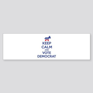 Keep calm and vote democrat Sticker (Bumper)