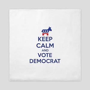 Keep calm and vote democrat Queen Duvet