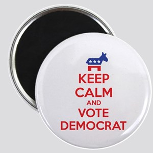 Keep calm and vote democrat Magnet