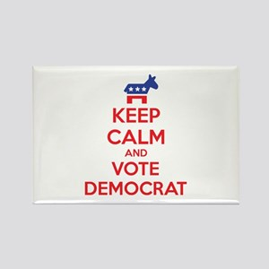 Keep calm and vote democrat Rectangle Magnet