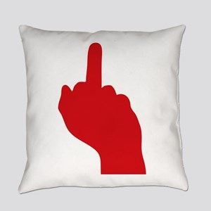 middle finger Everyday Pillow