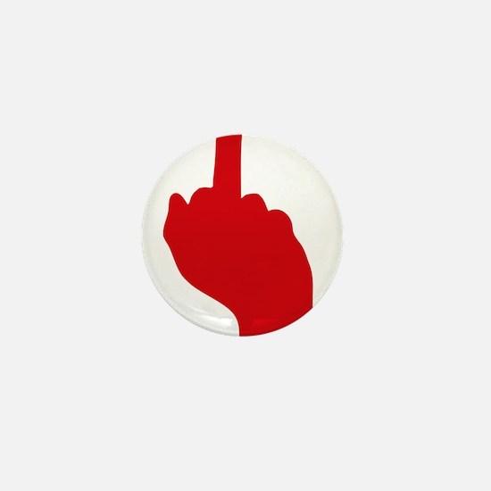 middle finger Mini Button
