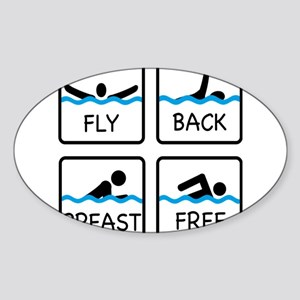 swimming Sticker