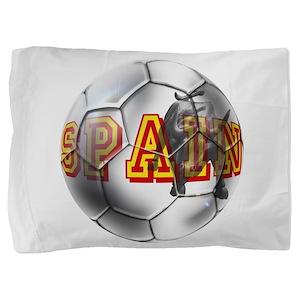 Spanish Soccer Ball Pillow Sham