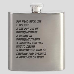 Pot Head Bucket List Flask