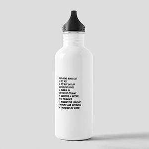 Pot Head Bucket List Water Bottle